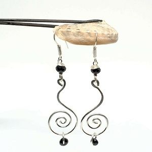 New Spiral  Dangle Earrings 925 Sterling Silver
